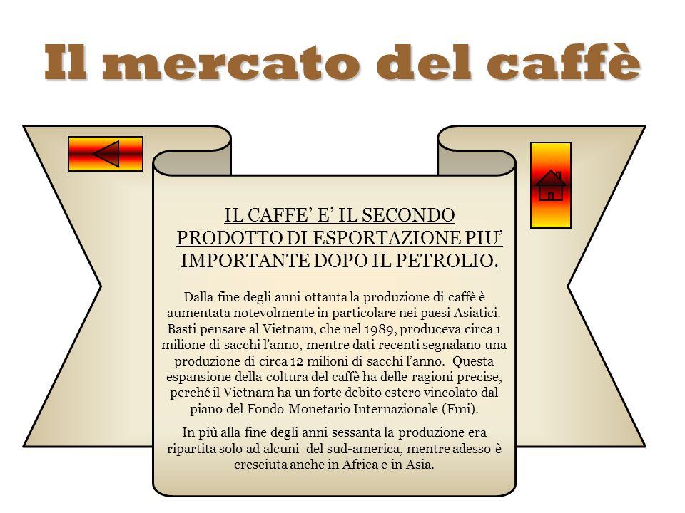 Il mercato del caffè IL CAFFE E IL SECONDO PRODOTTO DI ESPORTAZIONE PIU IMPORTANTE DOPO IL PETROLIO. Dalla fine degli anni ottanta la produzione di ca