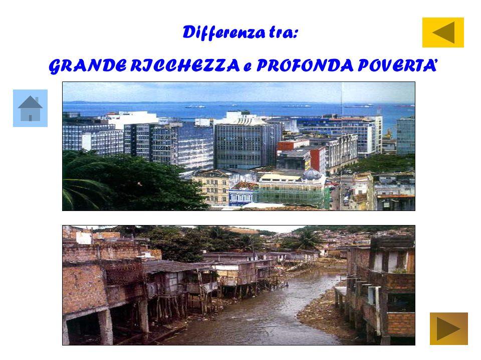 Differenza tra: GRANDE RICCHEZZA e PROFONDA POVERTA
