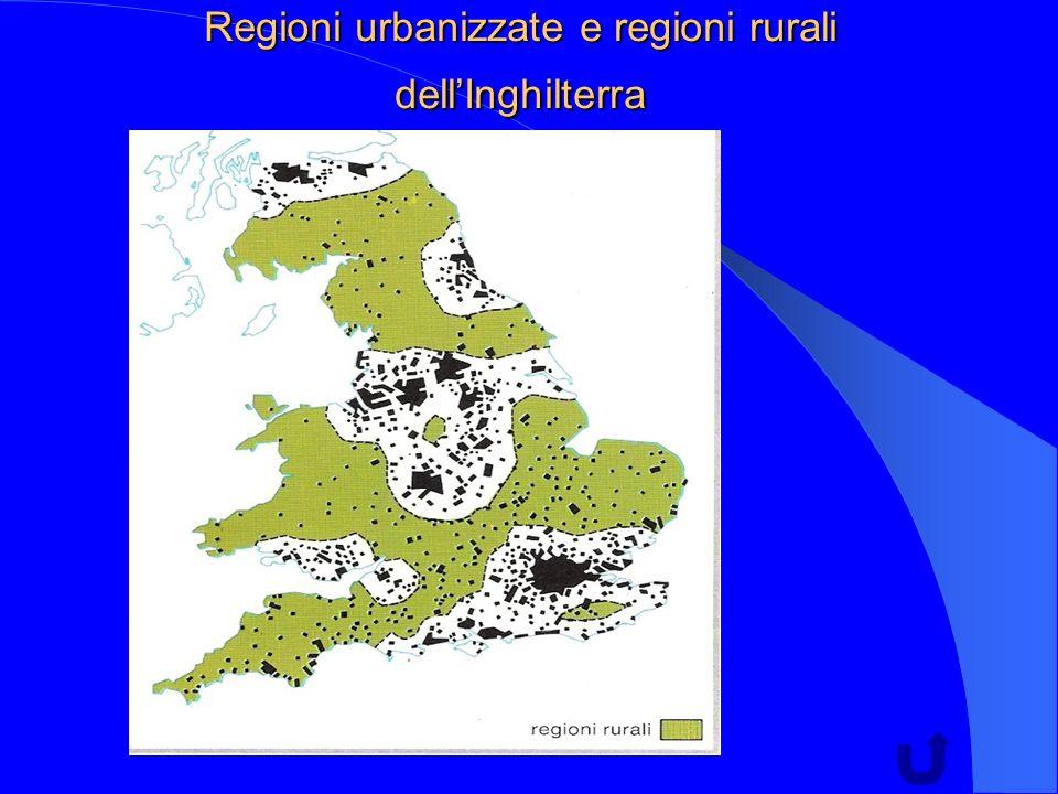 Regioni urbanizzate e regioni rurali dellInghilterra