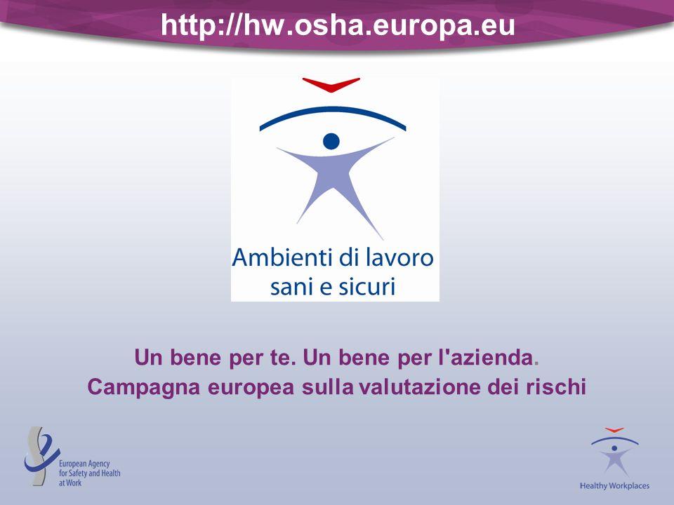 http://hw.osha.europa.eu Un bene per te. Un bene per l'azienda. Campagna europea sulla valutazione dei rischi