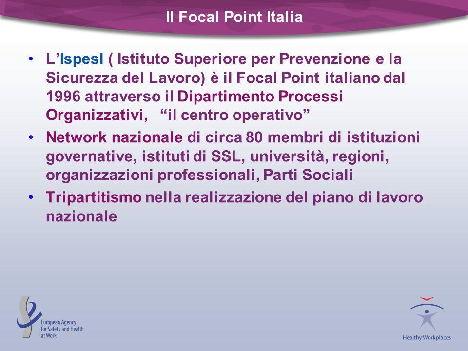 Il Focal Point Italia LIspesl ( Istituto Superiore per Prevenzione e la Sicurezza del Lavoro) è il Focal Point italiano dal 1996 attraverso il Diparti