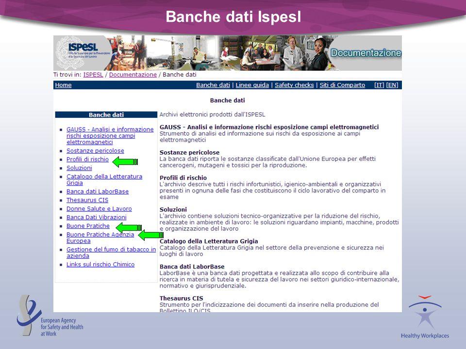 Banche dati Ispesl