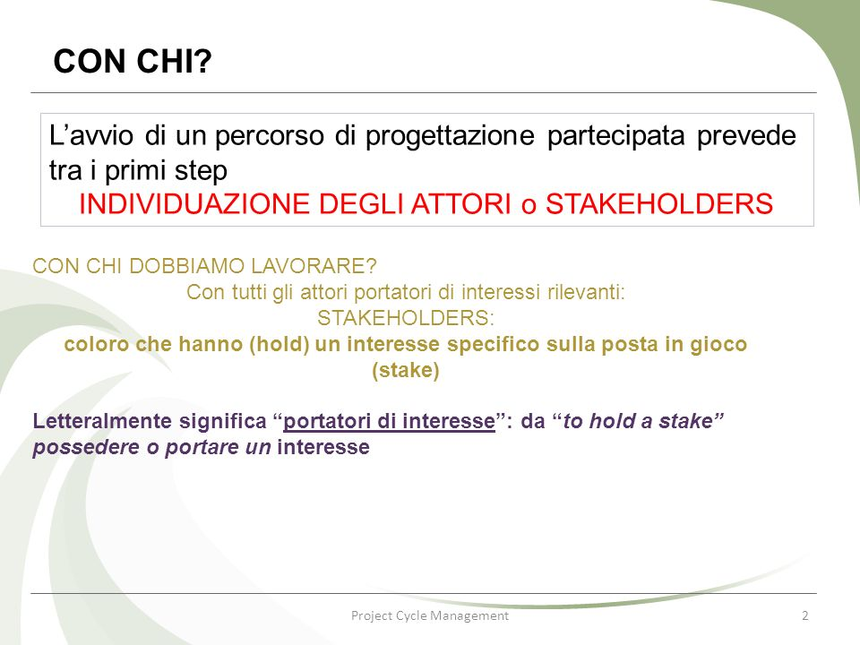 Project Cycle Management2 CON CHI.