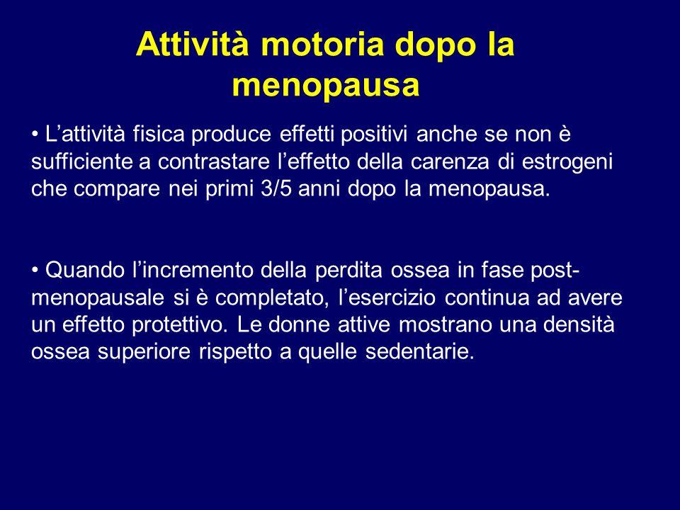 Attività motoria dopo la menopausa Lattività fisica produce effetti positivi anche se non è sufficiente a contrastare leffetto della carenza di estrog