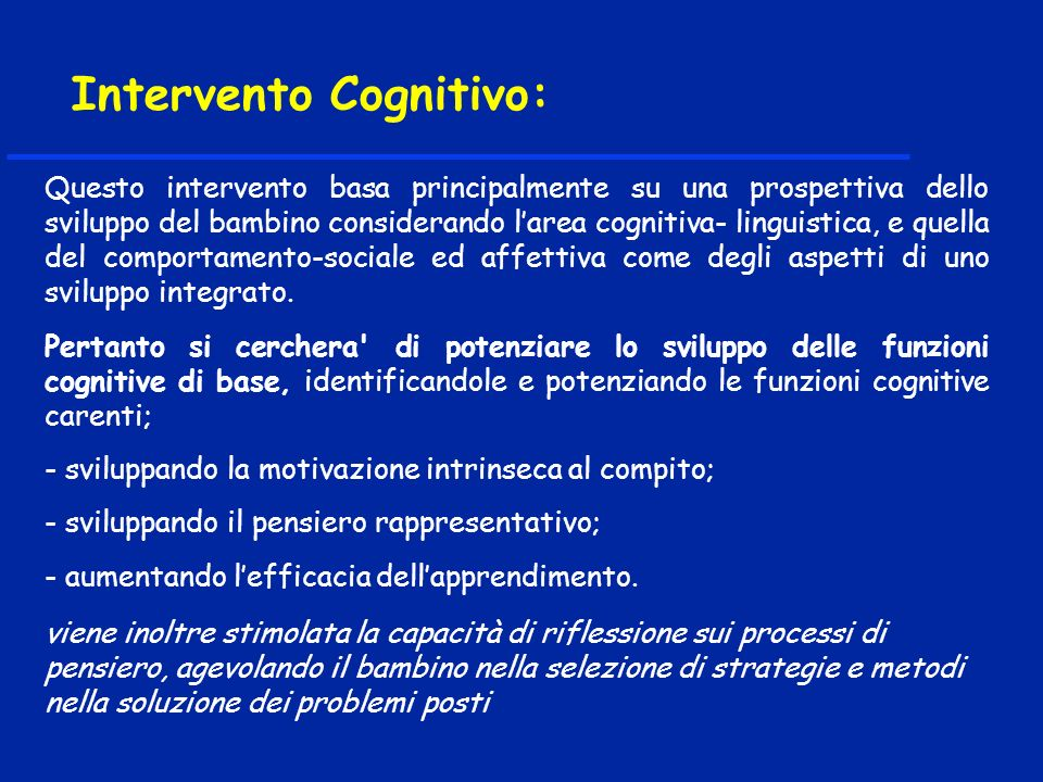Metodo TEACCH____________ Metodo TEACCH____________ (Treatment and Education of Autistic and Comunication Handicaped Children) (Treatment and Education of Autistic and Comunication Handicaped Children) - Programma comportamentale che si esplica attraverso numerose attività di tipo educativo che mirano al rinforzo dei comportamenti positivi ed alleliminazione delle condotte negative.