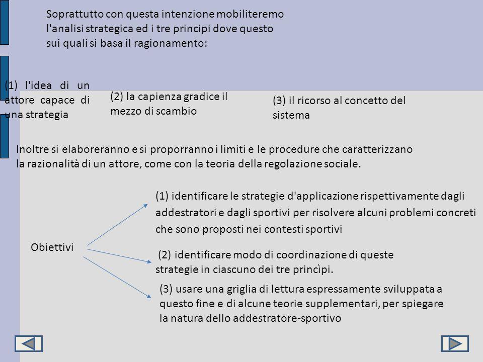 Soprattutto con questa intenzione mobiliteremo l'analisi strategica ed i tre principi dove questo sui quali si basa il ragionamento: (1) l'idea di un