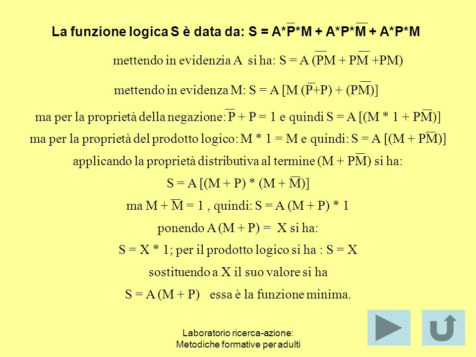 Laboratorio ricerca-azione: Metodiche formative per adulti Problema di logica 2