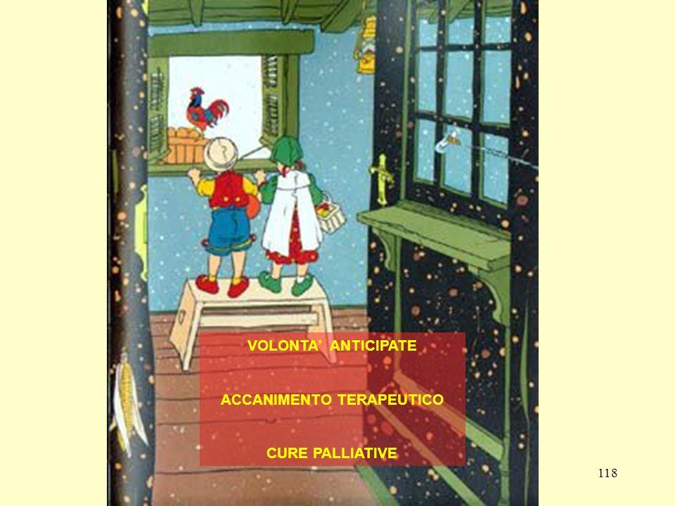 118 VOLONTA ANTICIPATE ACCANIMENTO TERAPEUTICO CURE PALLIATIVE