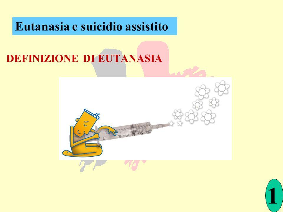 DEFINIZIONE DI EUTANASIA Eutanasia e suicidio assistito 1