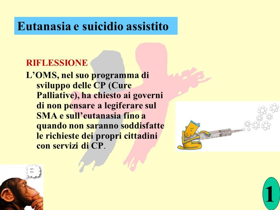 RIFLESSIONE LOMS, nel suo programma di sviluppo delle CP (Cure Palliative), ha chiesto ai governi di non pensare a legiferare sul SMA e sulleutanasia