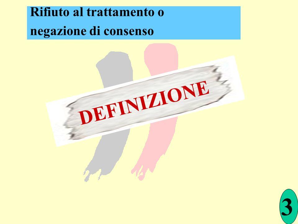3 DEFINIZIONE Rifiuto al trattamento o negazione di consenso