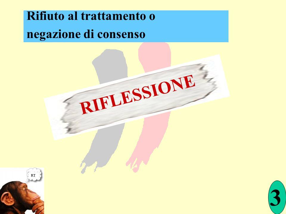 RT RIFLESSIONE 3 Rifiuto al trattamento o negazione di consenso