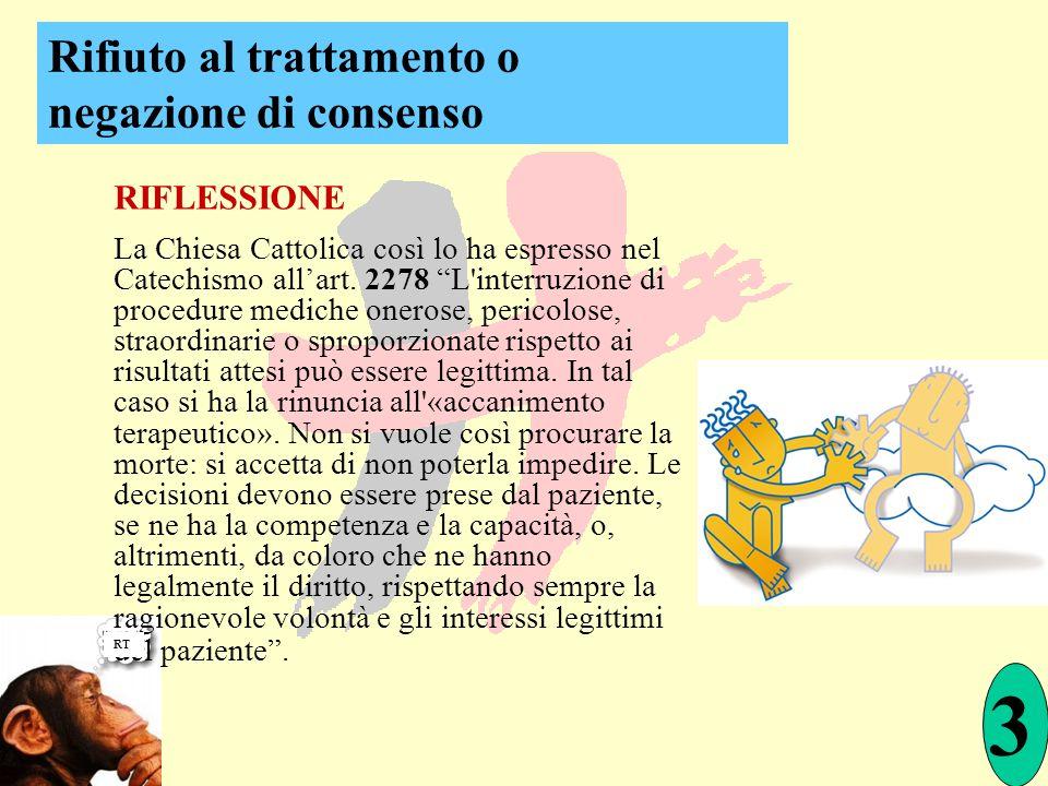 RIFLESSIONE La Chiesa Cattolica così lo ha espresso nel Catechismo allart. 2278 L'interruzione di procedure mediche onerose, pericolose, straordinarie
