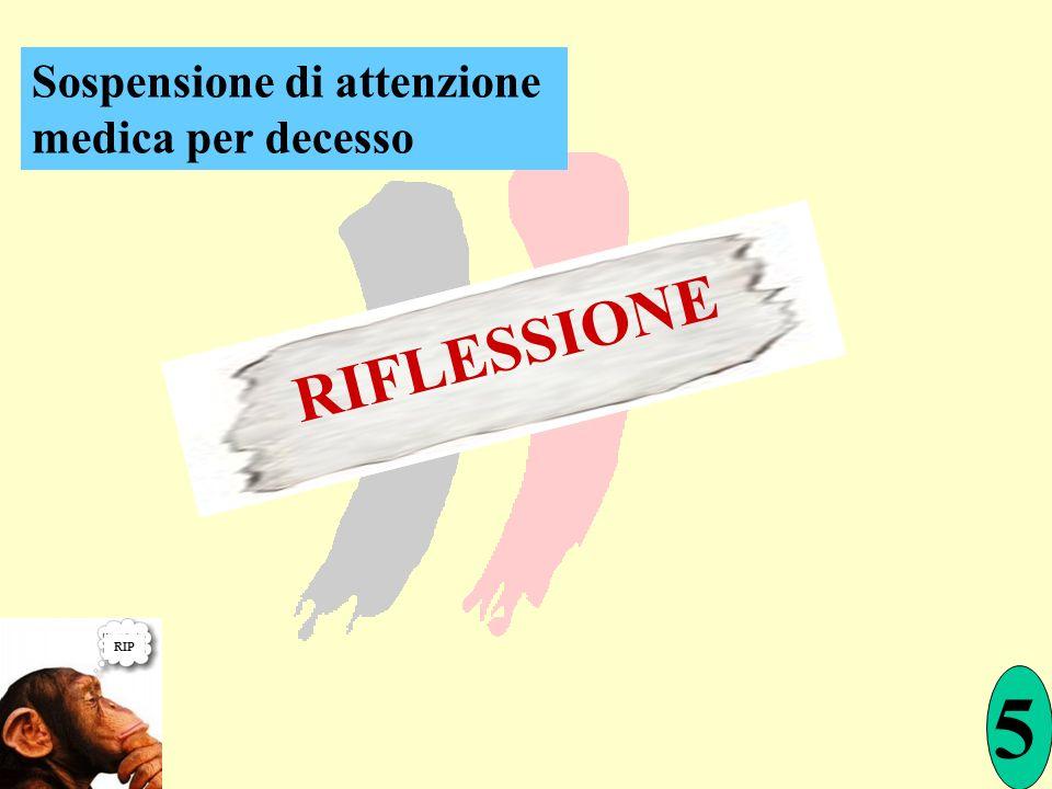 RIFLESSIONE 5 RIP Sospensione di attenzione medica per decesso