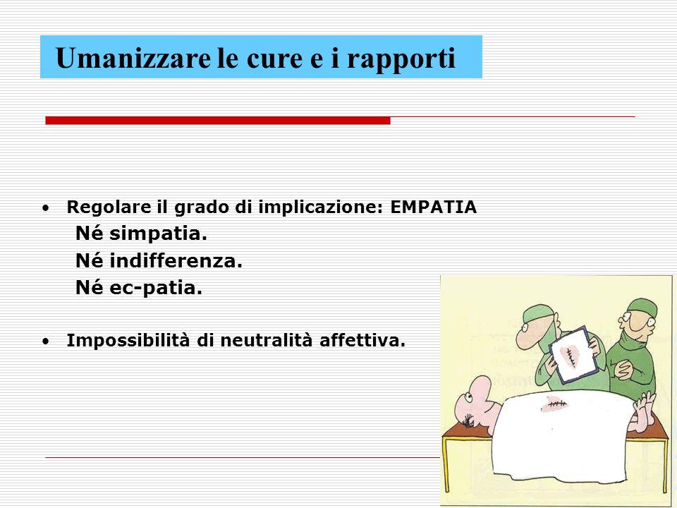 68 Regolare il grado di implicazione: EMPATIA Né simpatia.