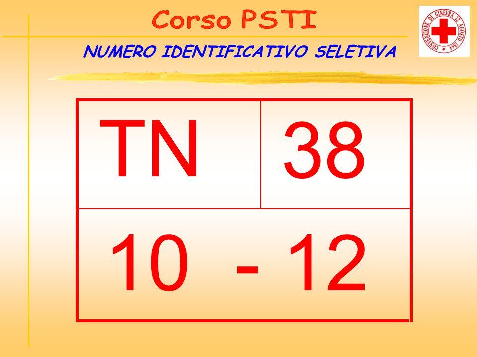 NUMERO IDENTIFICATIVO SELETIVA TN 38 10 - 12