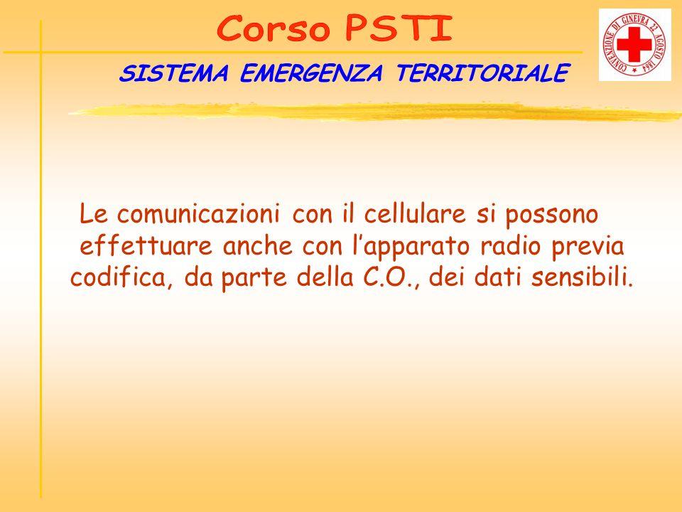 Le comunicazioni con il cellulare si possono effettuare anche con lapparato radio previa codifica, da parte della C.O., dei dati sensibili. SISTEMA EM