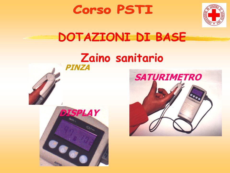 zPINZA DISPLAY SATURIMETRO DOTAZIONI DI BASE Zaino sanitario