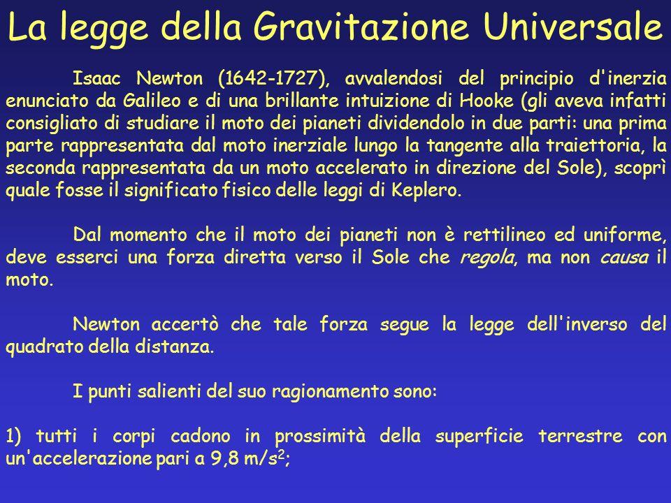 La legge della Gravitazione Universale Isaac Newton (1642-1727), avvalendosi del principio d'inerzia enunciato da Galileo e di una brillante intuizion