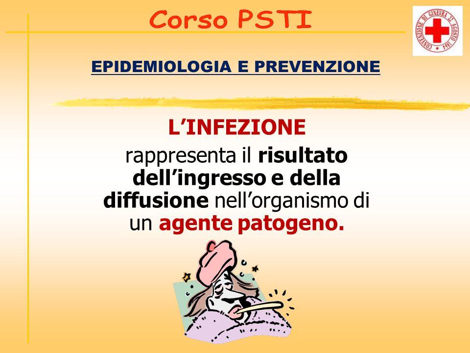 EPIDEMIOLOGIA E PREVENZIONE LINFEZIONE rappresenta il risultato dellingresso e della diffusione nellorganismo di un agente patogeno.