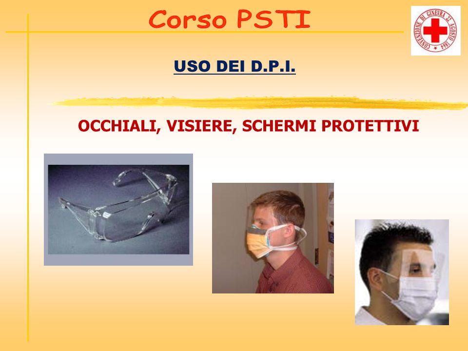 USO DEI D.P.I. OCCHIALI, VISIERE, SCHERMI PROTETTIVI