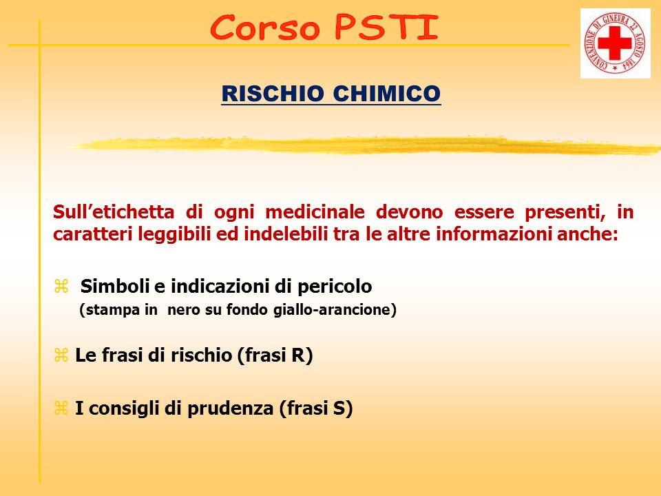 RISCHIO CHIMICO Sulletichetta di ogni medicinale devono essere presenti, in caratteri leggibili ed indelebili tra le altre informazioni anche: z Simbo