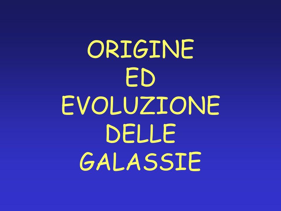 ORIGINE ED EVOLUZIONE DELLE GALASSIE