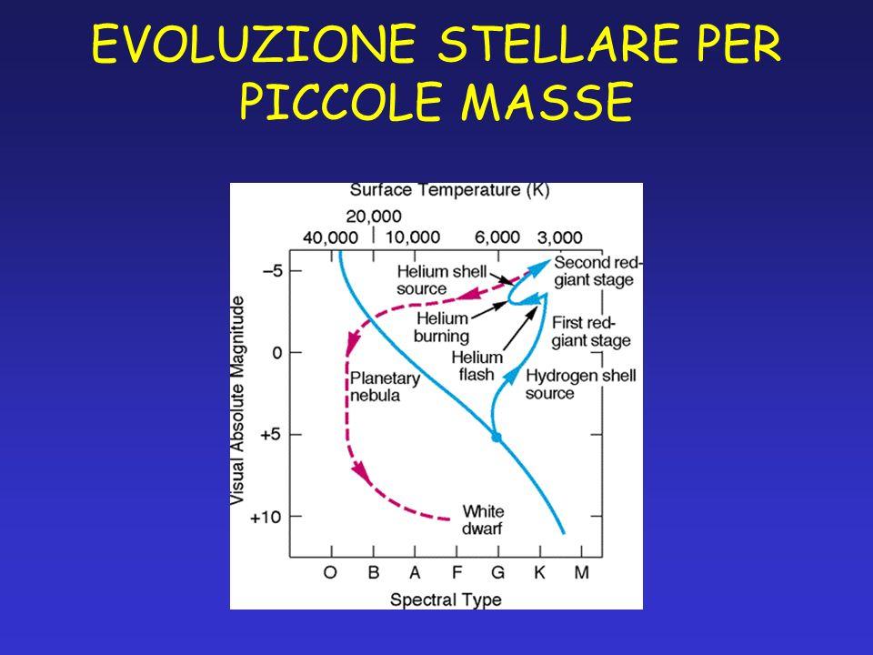 EVOLUZIONE STELLARE PER PICCOLE MASSE