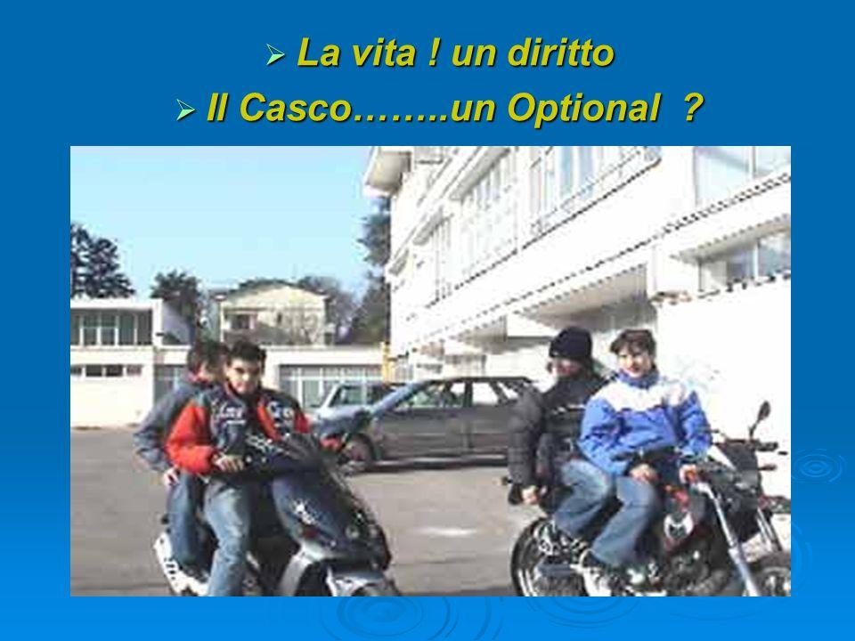 La vita ! un diritto La vita ! un diritto Il Casco……..un Optional ? Il Casco……..un Optional ?