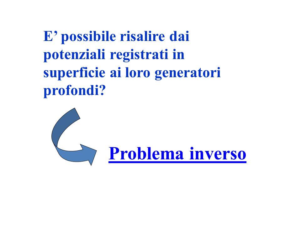 E possibile risalire dai potenziali registrati in superficie ai loro generatori profondi? Problema inverso