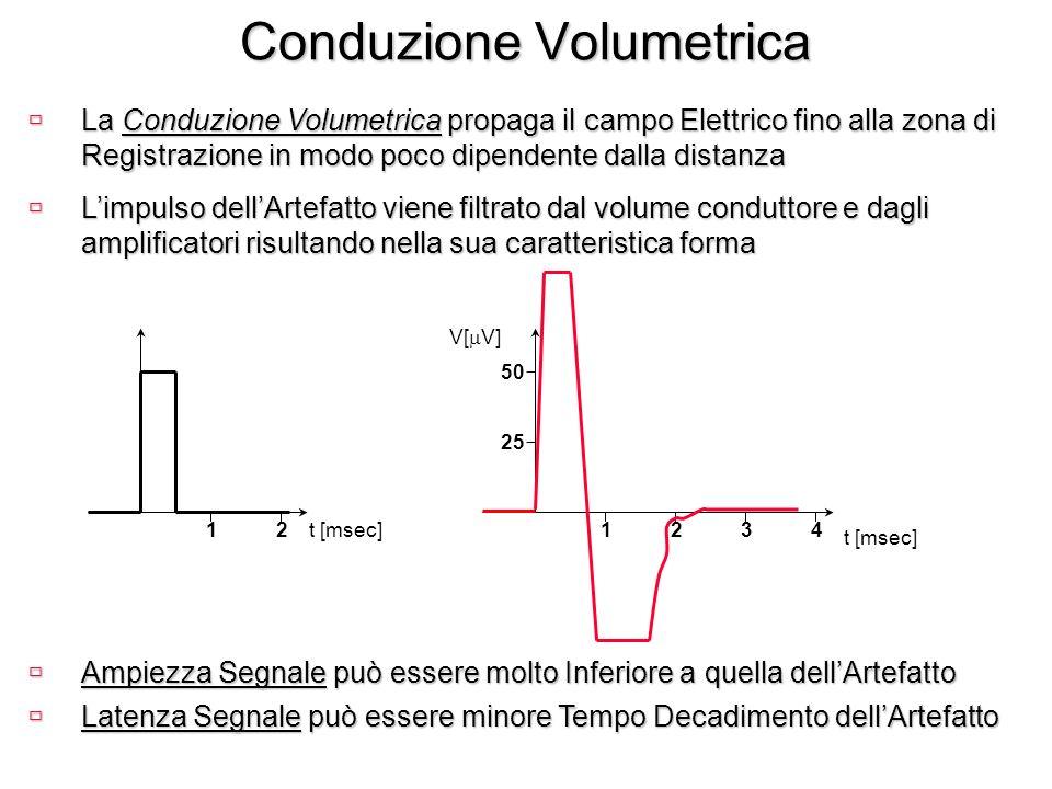 Conduzione Volumetrica ùLa Conduzione Volumetrica propaga il campo Elettrico fino alla zona di Registrazione in modo poco dipendente dalla distanza t