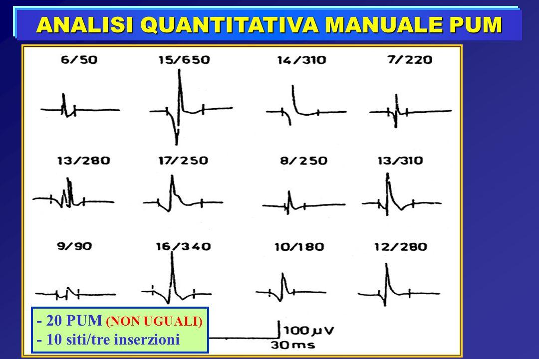 ANALISI QUANTITATIVA MANUALE PUM - 20 PUM (NON UGUALI) - 10 siti/tre inserzioni