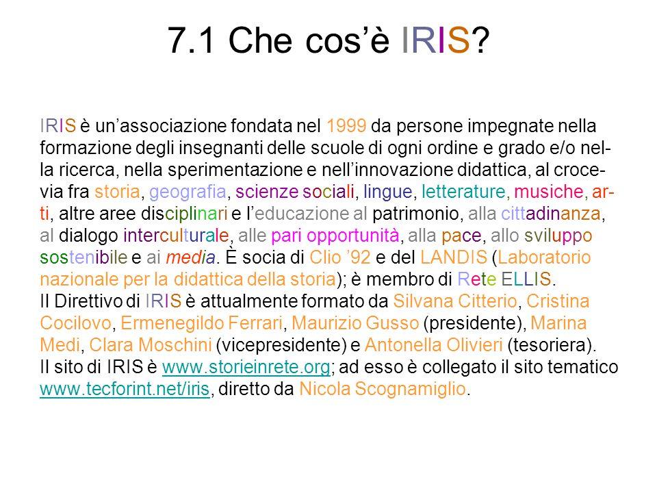 7.1 Che cosè IRIS.