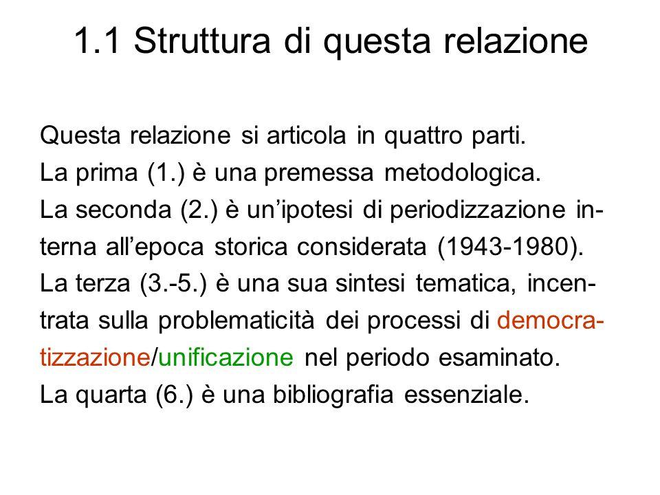 1.2 Democrazia e processi di democratizzazione 1.2.1 Diverse definizioni di de- mocrazia 1.2.2 La democrazia come pro- cesso aperto e patrimonio 1.2.3 Che cosa significa pro- cessi di democratizzazione?