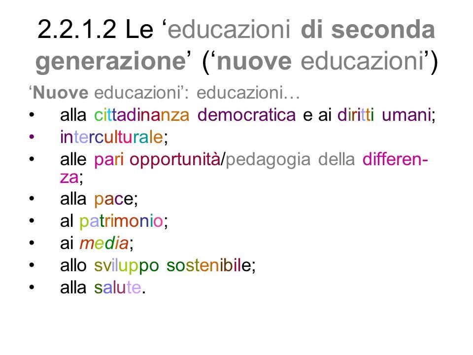 2.2.1.3 Solidarietà reciproca franuove educazioni e discipline 2.2.1.3.1 Educazioni e discipline: una solidarietà reciproca 2.2.1.3.2 Alcuni esempi lombardi di in- trecci fra nuove educazioni e discipli- ne 2.2.1.3.3 Quattro terreni su cui pratica- re forme sostenibili di interdisciplinarità