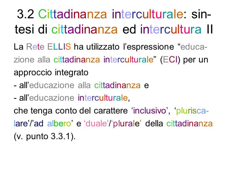 3.3 Leducazione alla cittadinanza democratica e ai diritti umani 3.3.1 Rinnovamento del concetto di cittadi- nanza 3.3.2 Costituzioni italiana/europea e Carte internazionali dei diritti 3.3.3 La dimensione europea delleducazio- ne alla cittadinanza