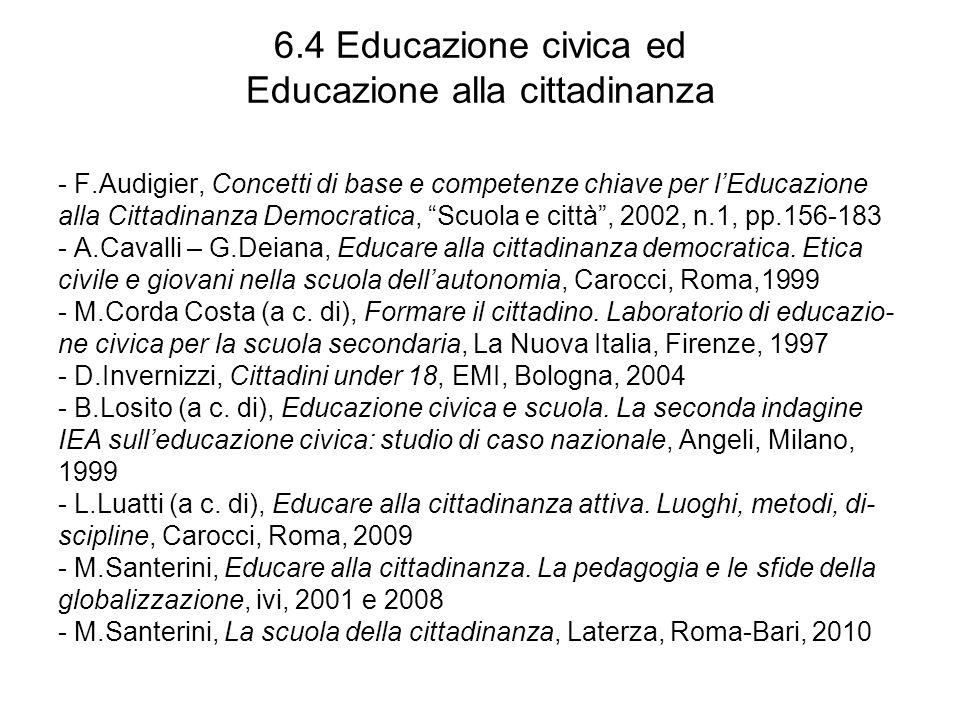 6.5 DallEducazione civica a Cittadinanza e Costituzione - M.Ambel – C.Schirru (a c.
