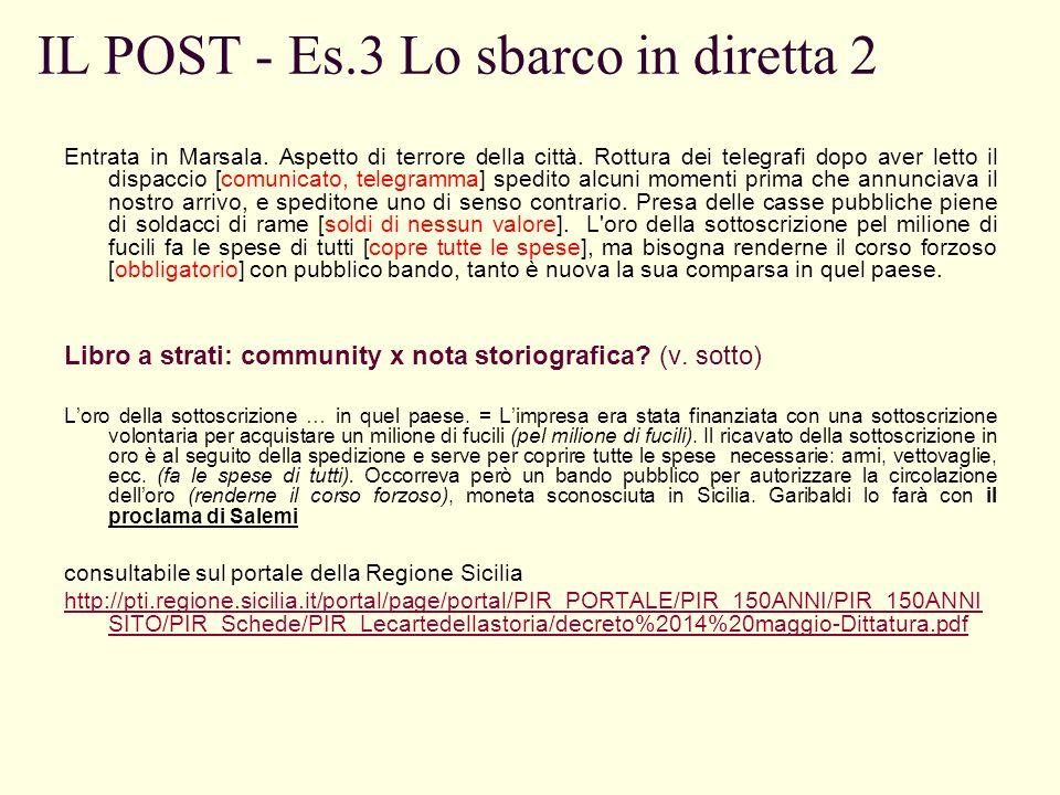 IL POST - Es.3 Lo sbarco in diretta 2 Entrata in Marsala.