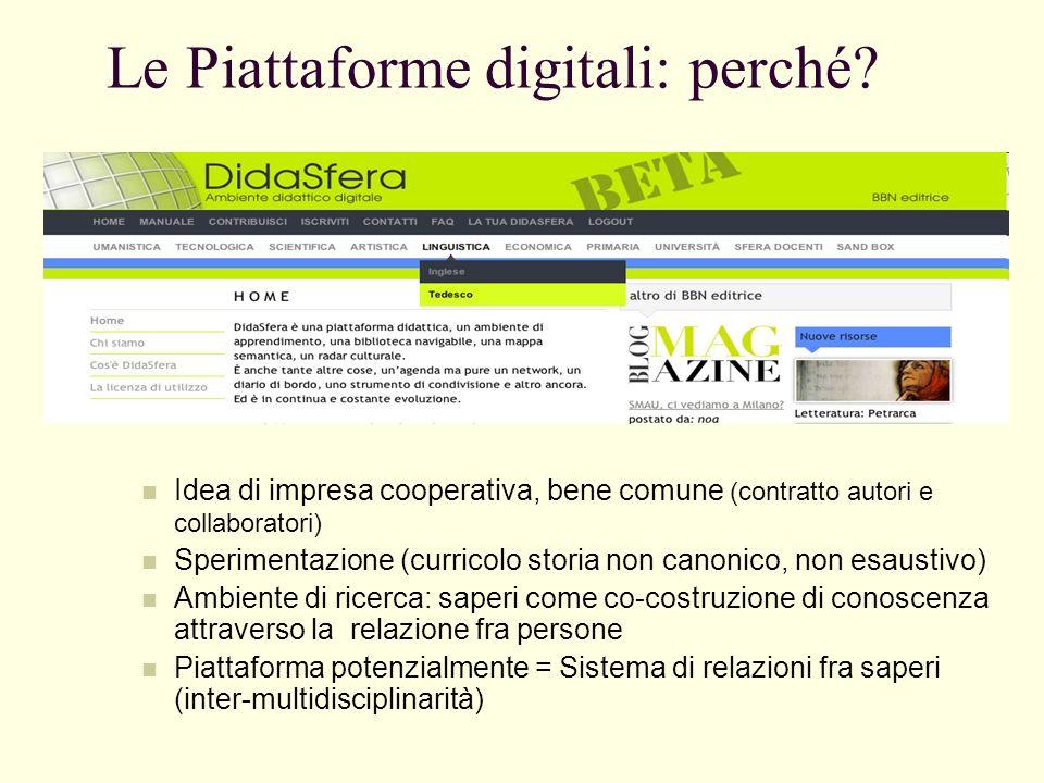 Le Piattaforme digitali: perché.