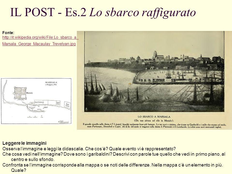 IL POST - Es.2 Lo sbarco raffigurato Leggere le immagini Osserva limmagine e leggi la didascalia.