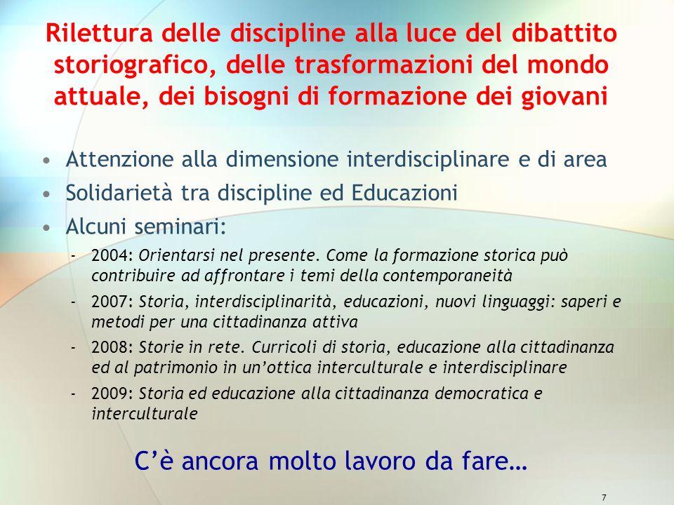 8 Approfondimenti di contenuto storiografico Attività di ricerca nei progetti Officina dello storico Le vie dei marmi e Gli occhi di Leonardo Seminario 2010 LItalia e gli italiani.