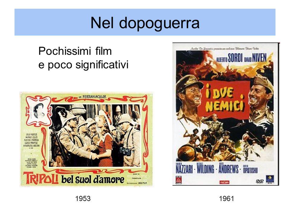 Nel dopoguerra 19611953 Pochissimi film e poco significativi