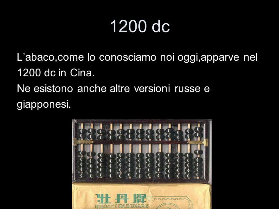 1200 dc Labaco,come lo conosciamo noi oggi,apparve nel 1200 dc in Cina. Ne esistono anche altre versioni russe e giapponesi.
