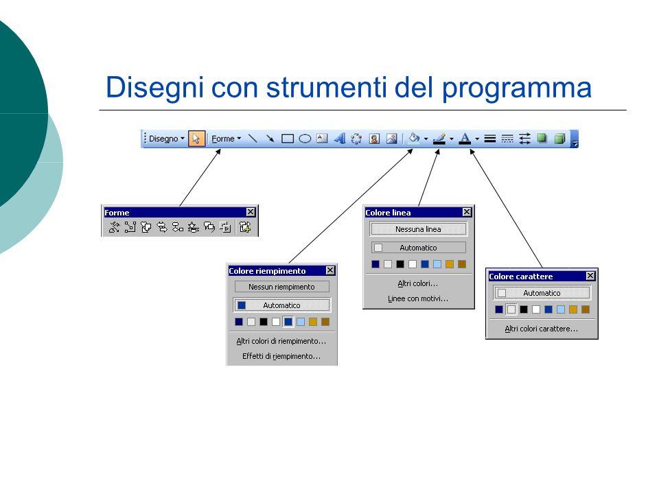 Disegni con strumenti del programma