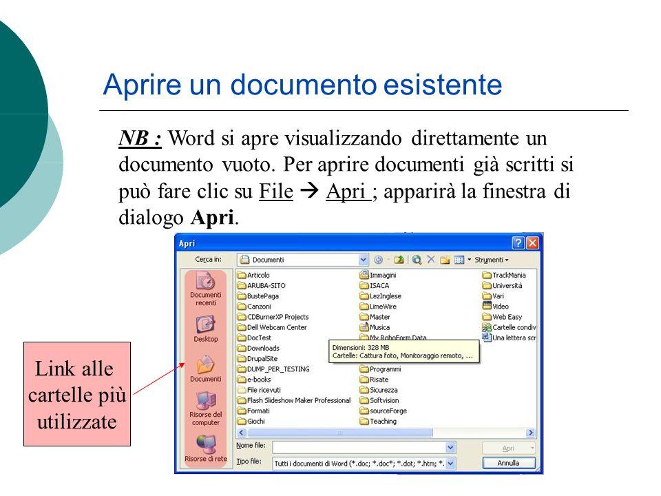 NB : Word si apre visualizzando direttamente un documento vuoto.