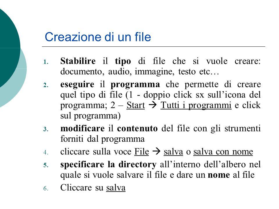 Creazione di un file 1.