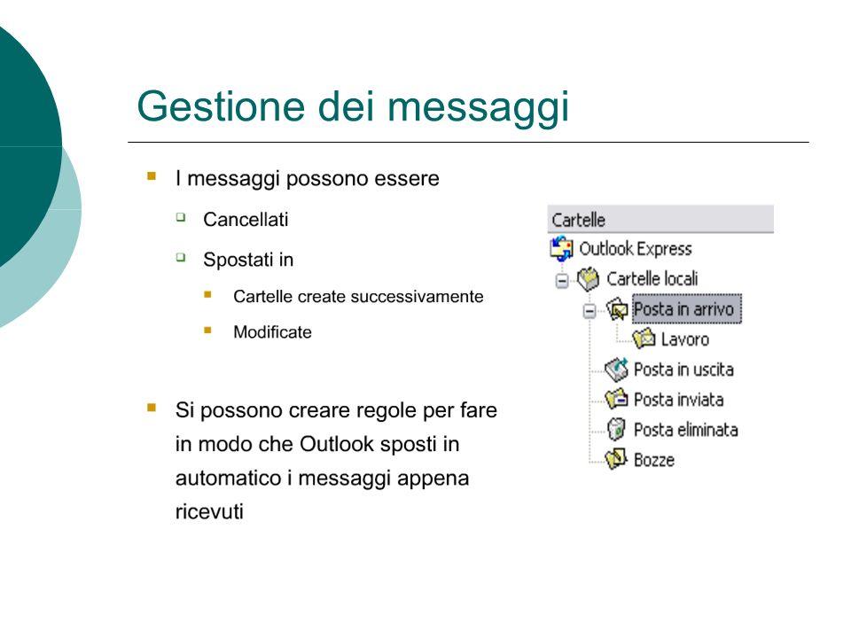 Gestione dei messaggi