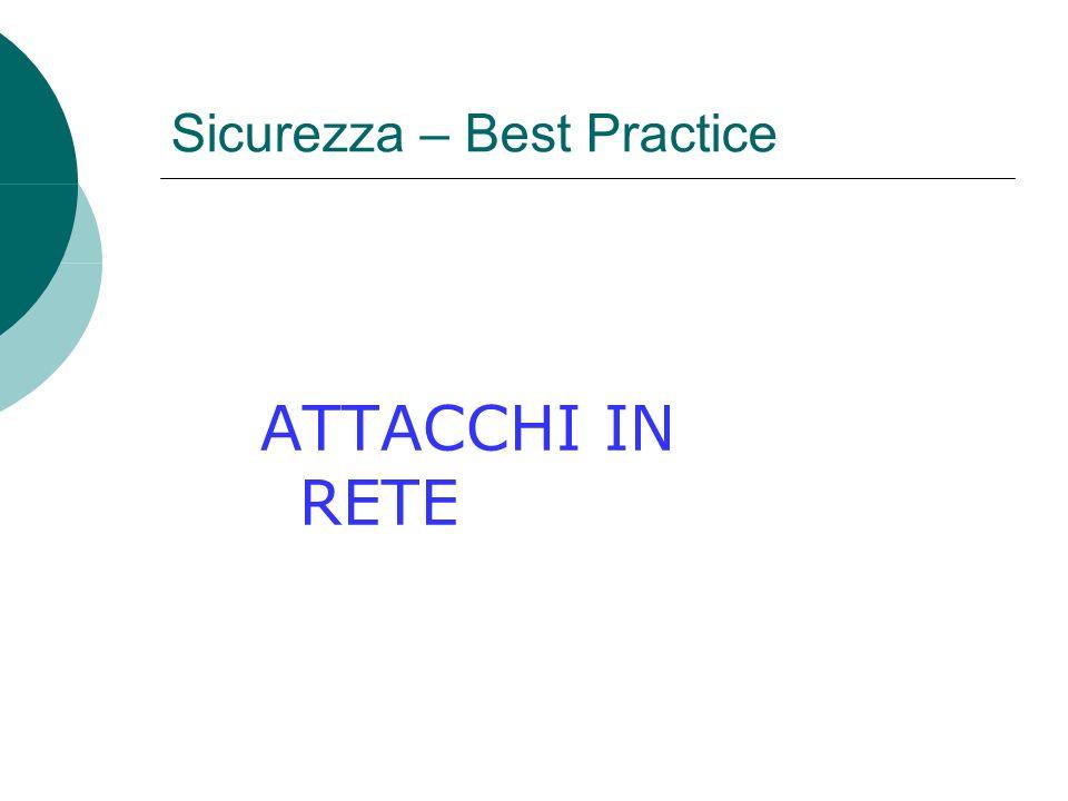 Sicurezza – Best Practice ATTACCHI IN RETE