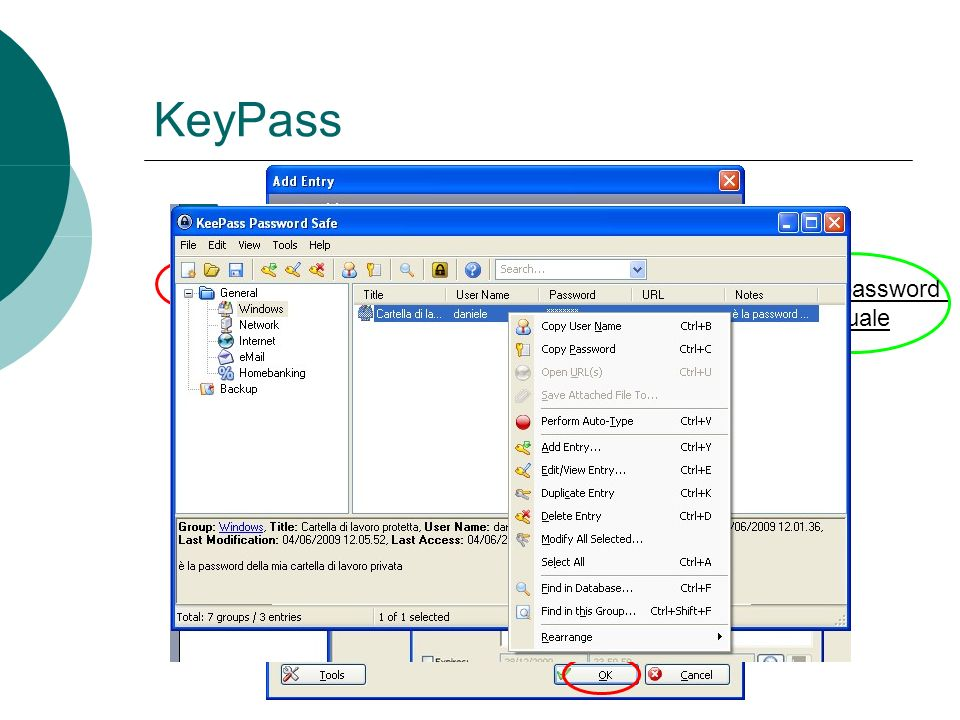 KeyPass Genera password casuale