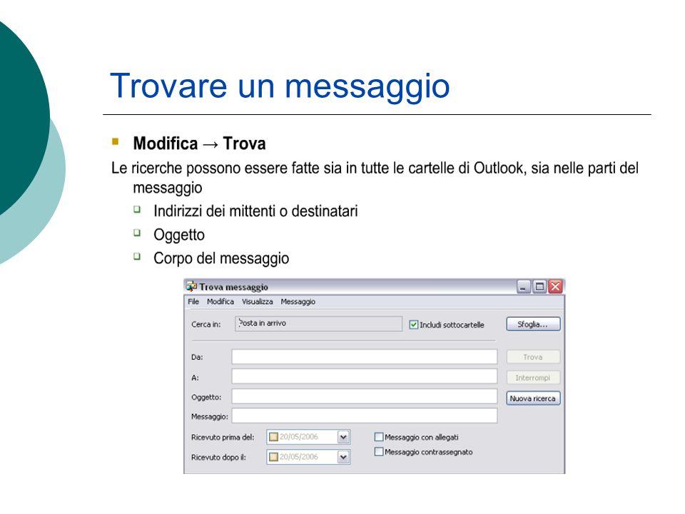 Trovare un messaggio